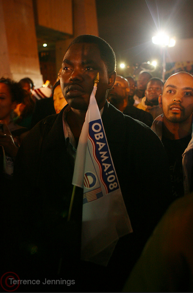 Election night in Harlem on 125th Street, November 4, 2008